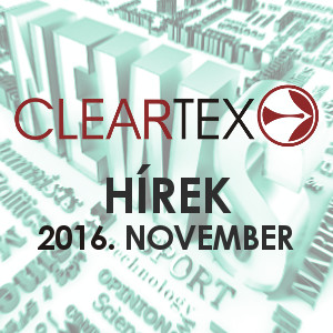 Cleartex Hírek | 2016. NOVEMBER